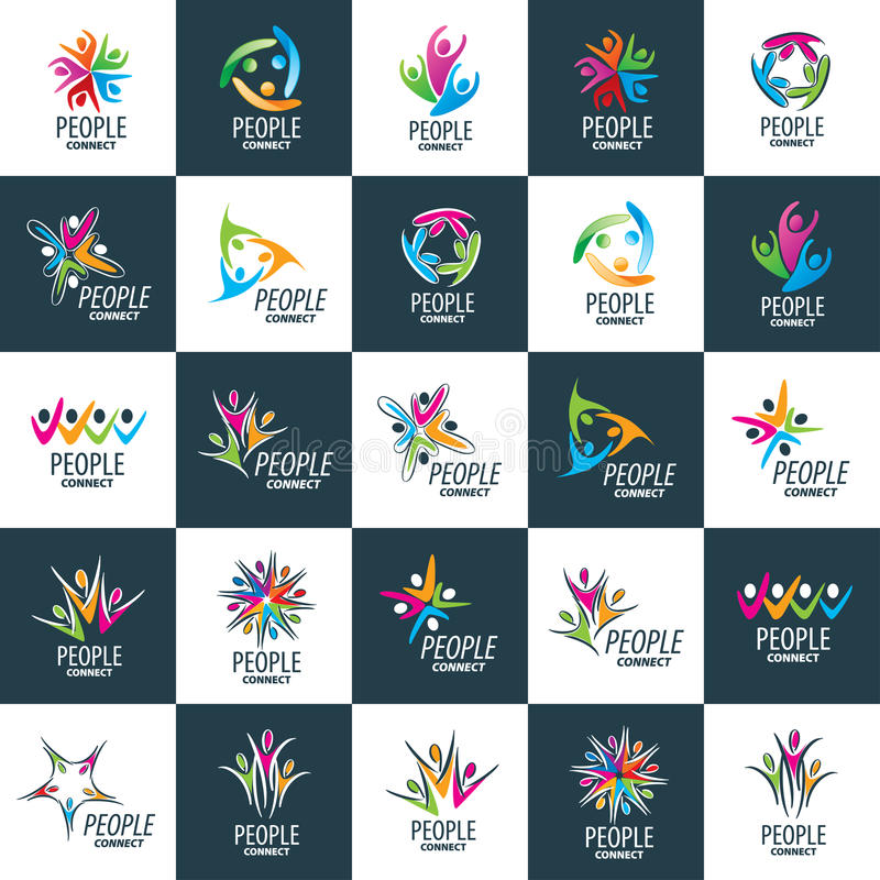 Povos do logotipo do vetor ilustração royalty free