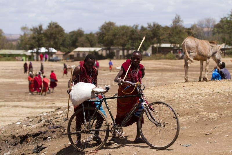Povos do Masai fotografia de stock