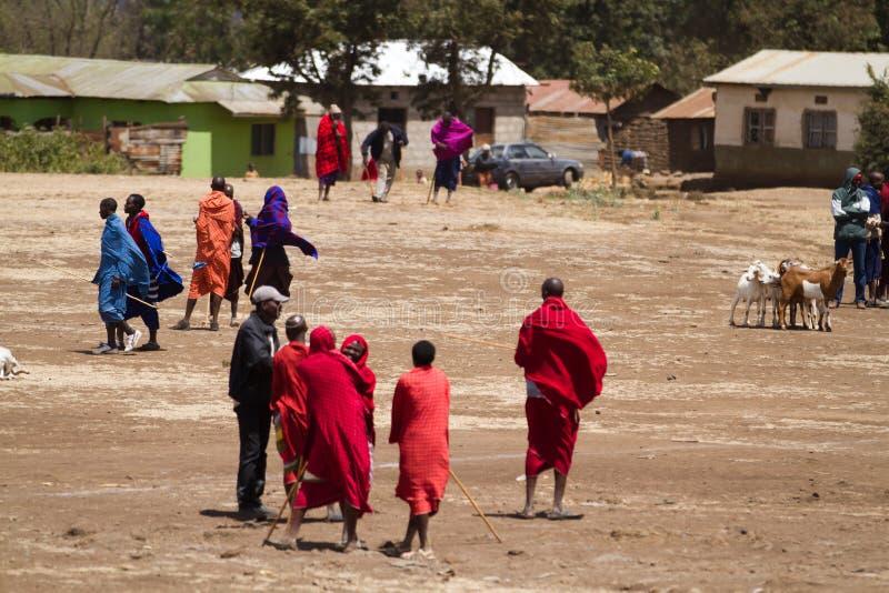 Povos do Masai imagens de stock royalty free