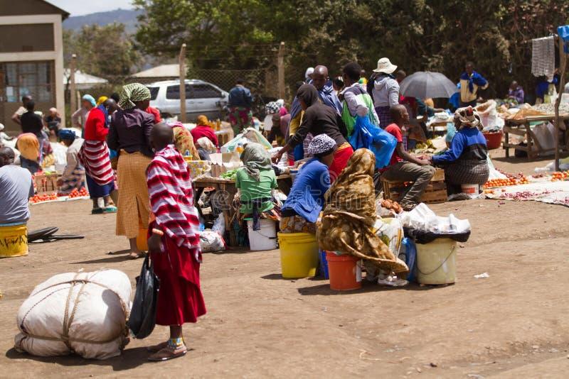 Povos do Masai foto de stock