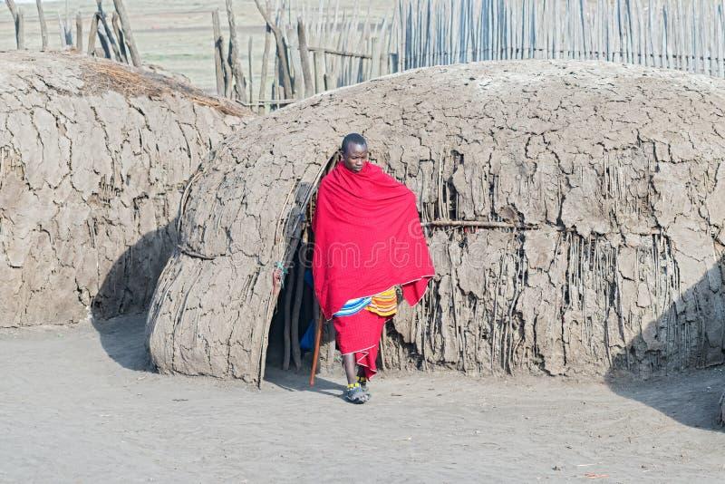 Povos do Masai em Tanzânia fotos de stock