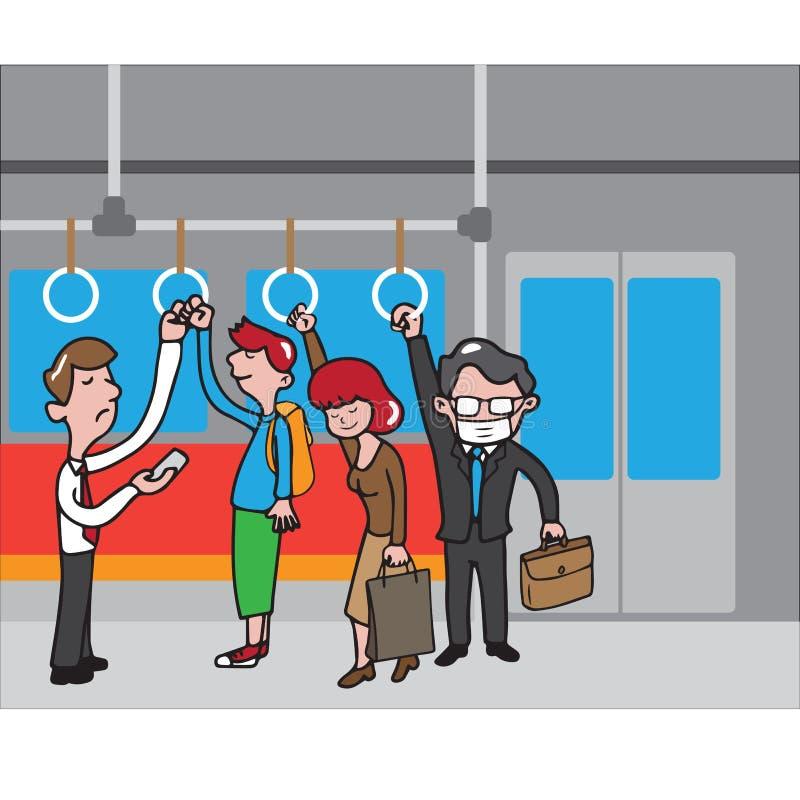 Povos do metro ilustração stock
