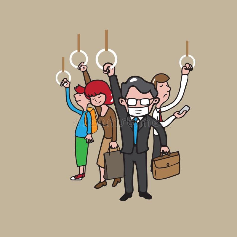 Povos 3 do metro ilustração royalty free
