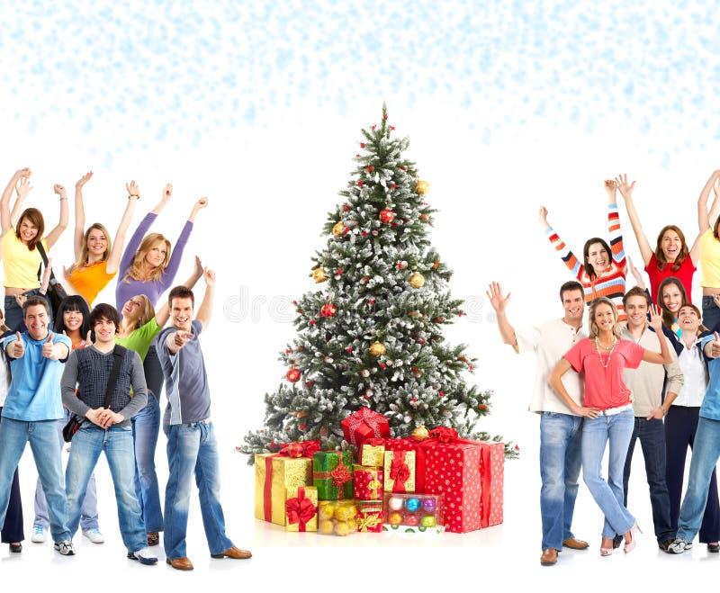 Povos do Natal fotografia de stock