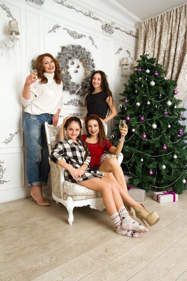 Povos do Natal feliz fotografia de stock royalty free