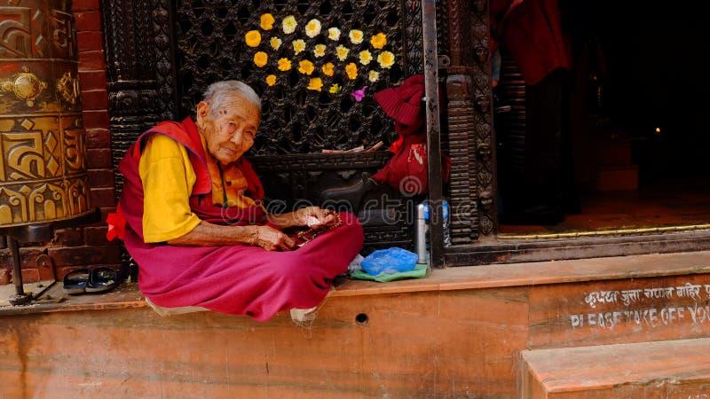 Povos do Nepali foto de stock
