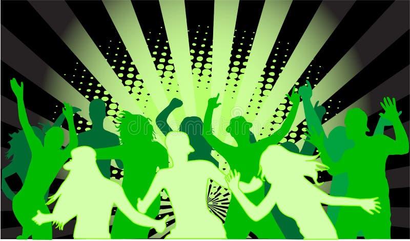 Povos do partido de Grunge ilustração stock