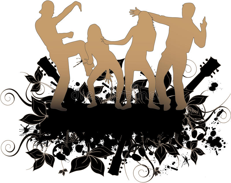 Povos do partido de Grunge ilustração royalty free