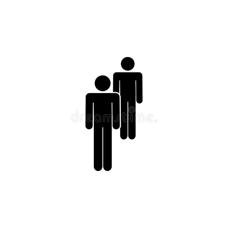 povos, dois, ícone de grupo Elemento de um ícone de grupo de pessoas Ícone superior do projeto gráfico da qualidade Sinais e ícon ilustração do vetor