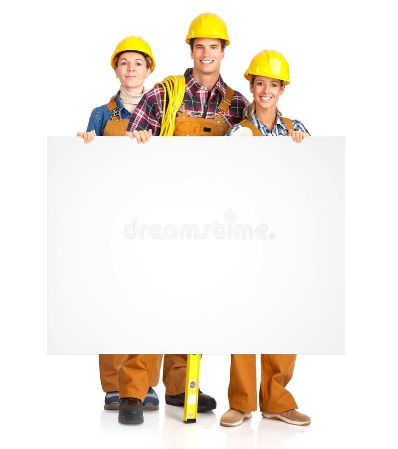 Povos dos trabalhadores dos contratantes imagens de stock