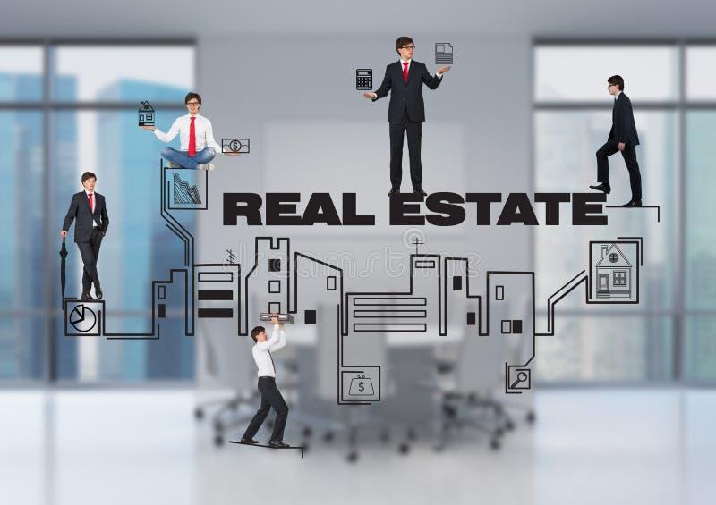 Povos e bens imobiliários imagens de stock