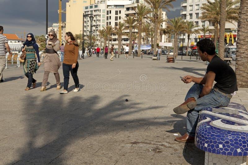 Povos em Beirute, Líbano foto de stock