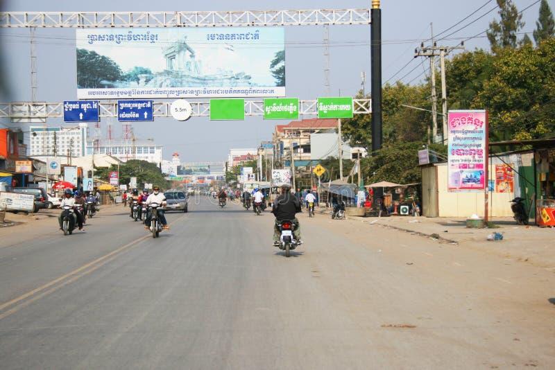 Povos em Cambodia. fotografia de stock