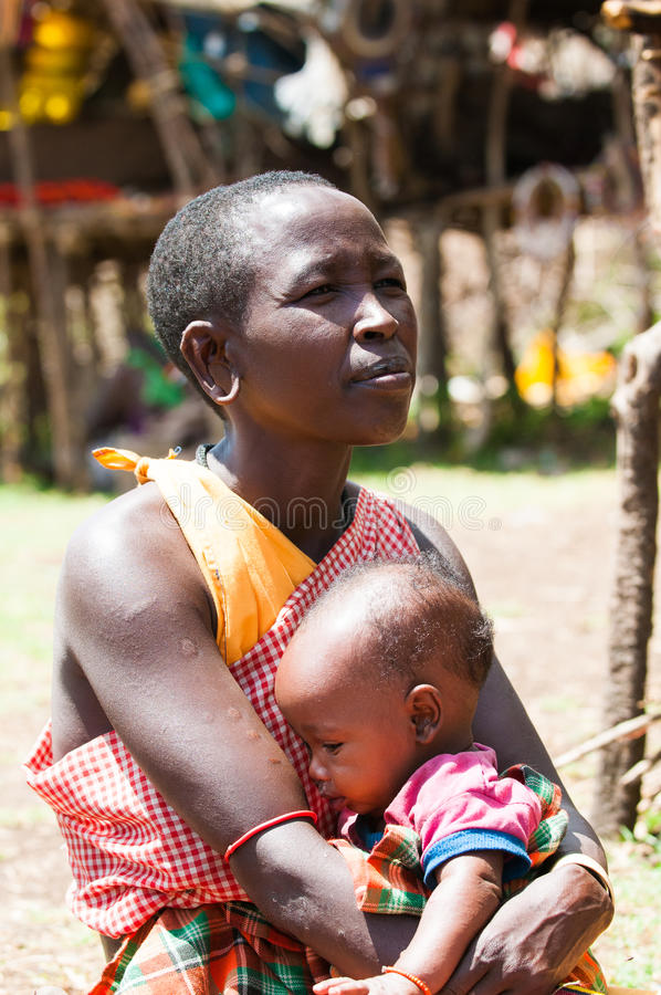 Povos em Kenya fotografia de stock royalty free