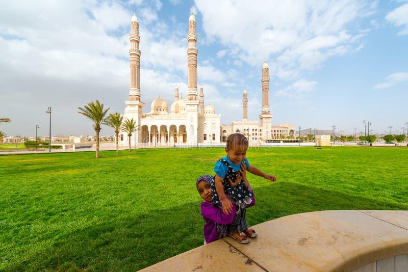 Povos em Sana'a, Iémen imagens de stock royalty free