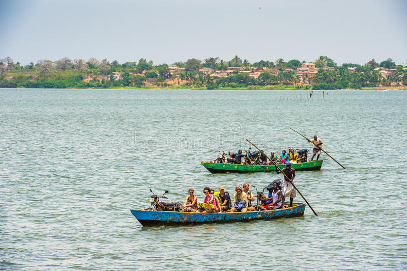 Povos em Togo, África foto de stock