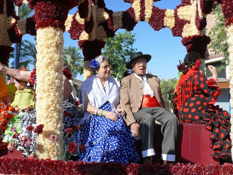 Povos em trajes andaluzes tradicionais imagem de stock
