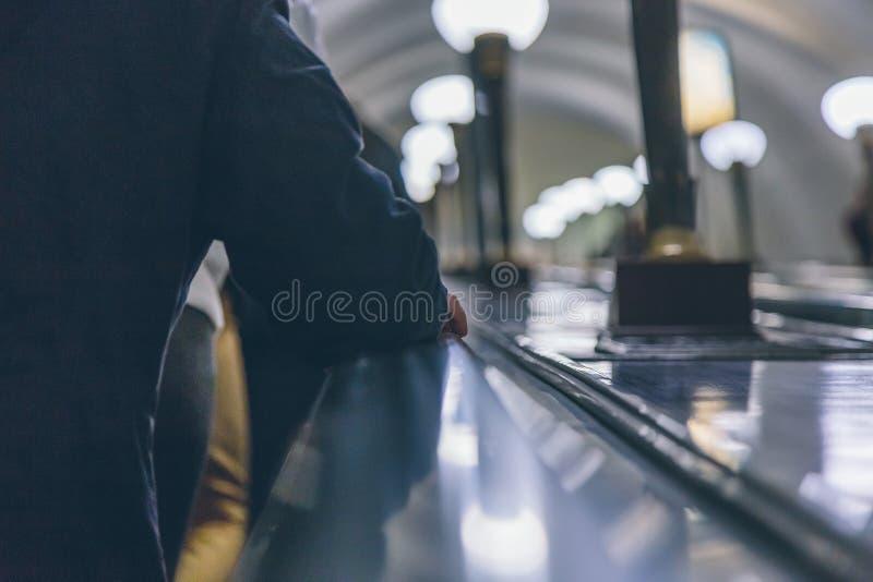 Povos em um metro em Rússia fotos de stock