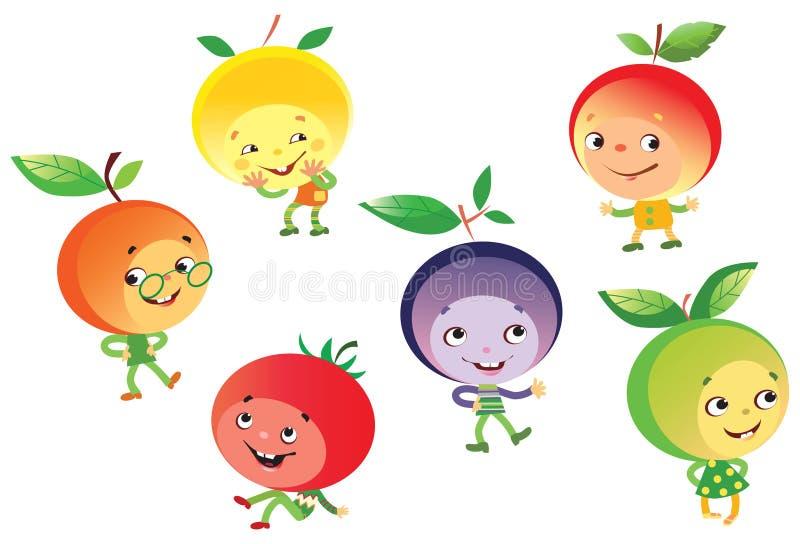 Povos engraçados da fruta ilustração do vetor