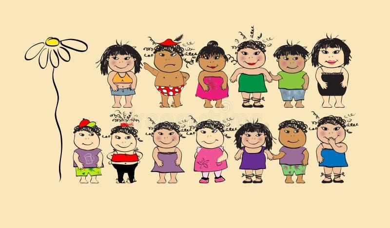 Download Povos Engraçados, Desenhos Animados Ilustração do Vetor - Ilustração de pares, arte: 10056193