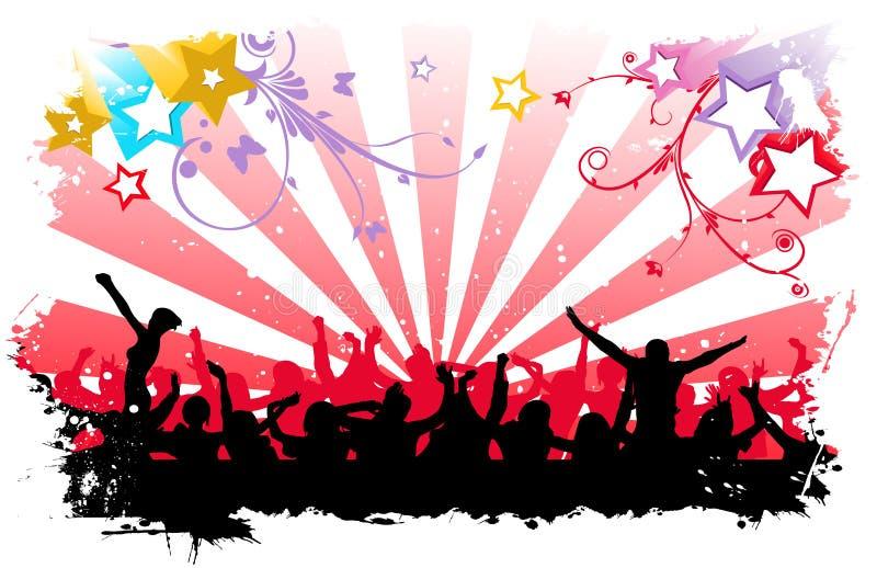 Povos felizes de dança ilustração do vetor