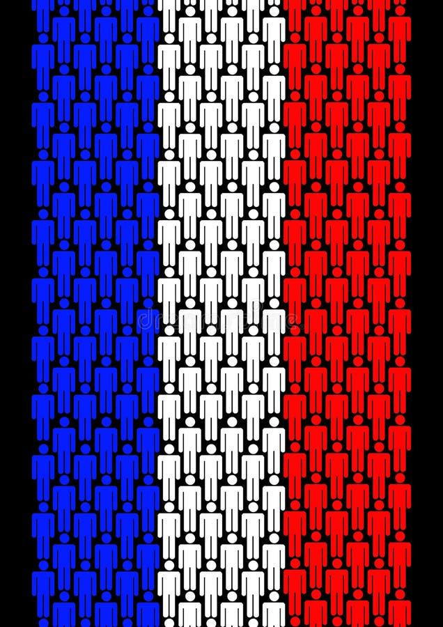 Povos franceses ilustração stock