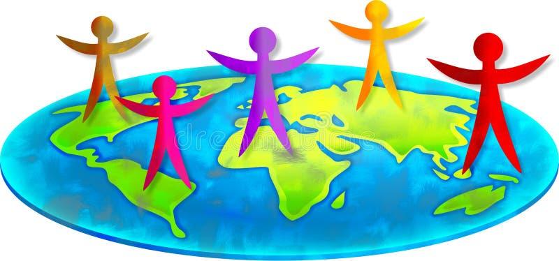 Povos globais ilustração do vetor