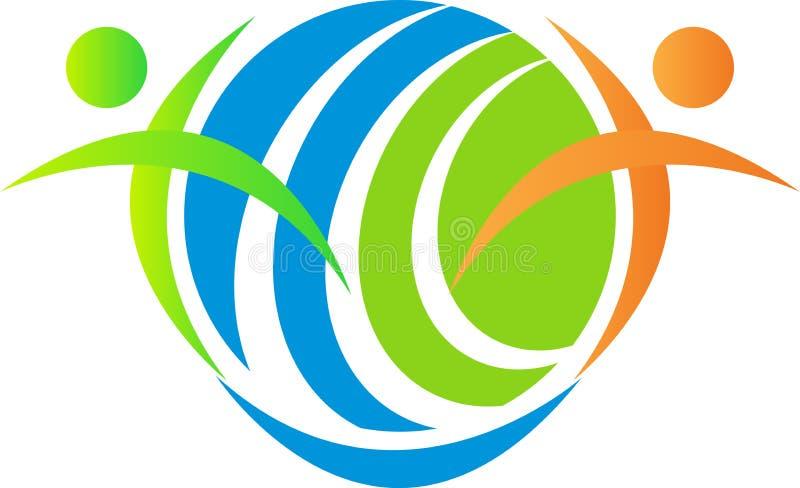 Povos globais do símbolo ilustração royalty free