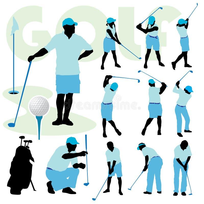 Povos Golfing ilustração stock