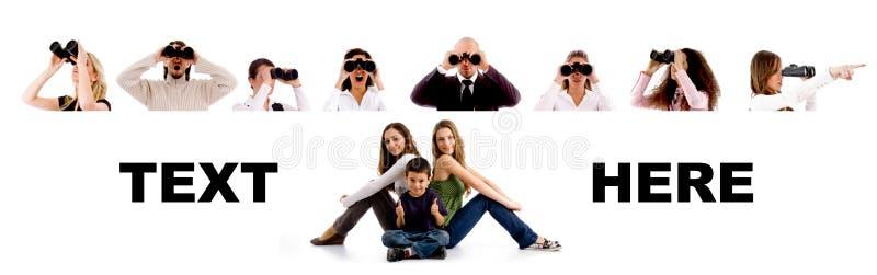 Povos - grupo de procurarar povos imagens de stock