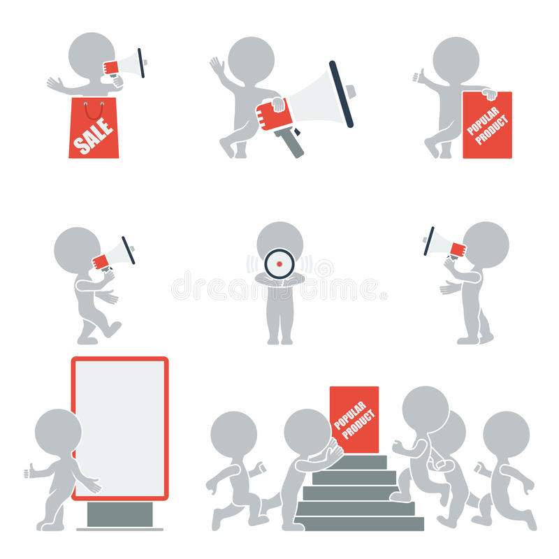 Povos lisos - promoção ilustração stock