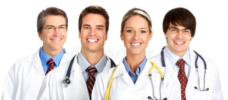 Povos médicos de sorriso imagem de stock royalty free