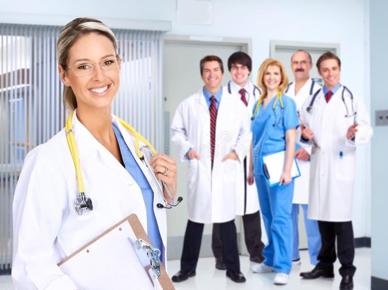 Povos médicos de sorriso fotos de stock royalty free