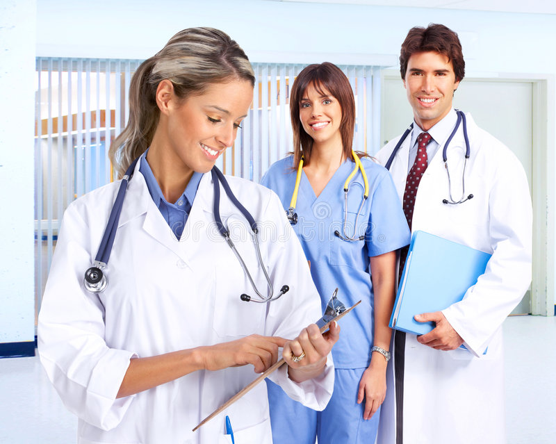 Povos médicos de sorriso imagens de stock royalty free