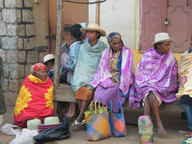 Povos malgaxes nativos fotografia de stock royalty free