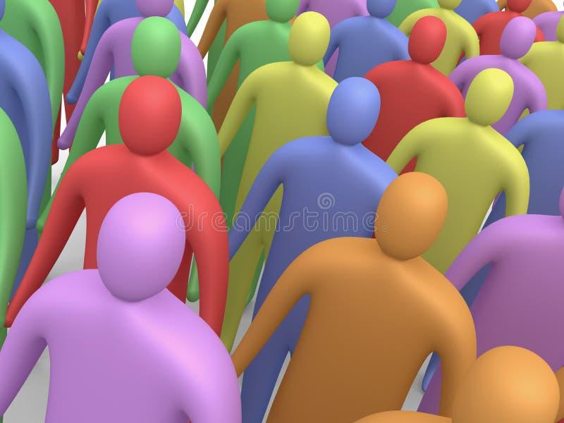 Povos Multicolor #4 ilustração stock