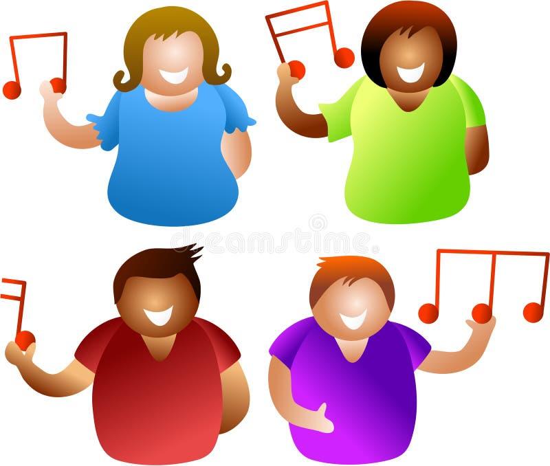 Povos musicais ilustração do vetor