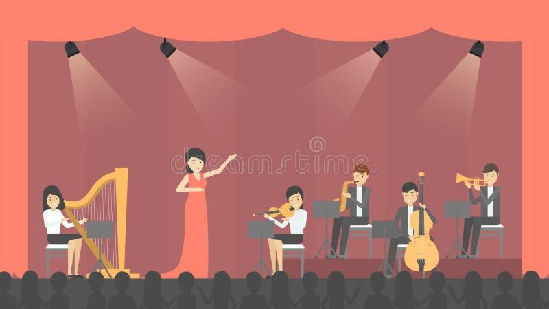 Povos na ópera ilustração do vetor