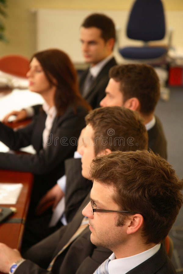 povos na conferência fotos de stock