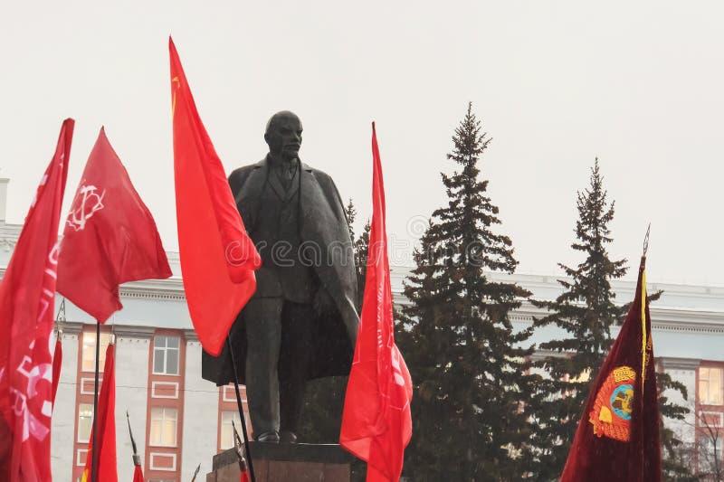 Povos na demonstração e na reunião de maio no governo provincial do russo fotografia de stock royalty free
