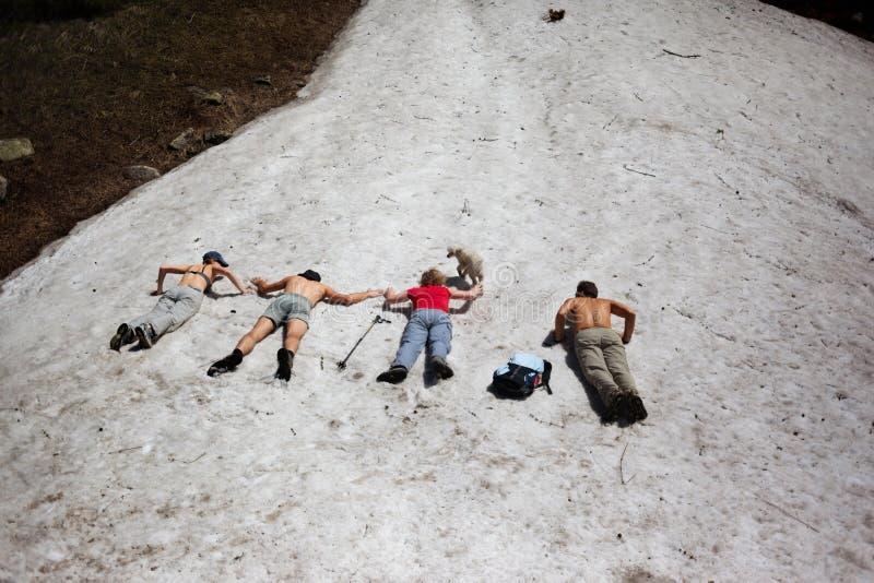 Povos nas montanhas do verão fotos de stock royalty free