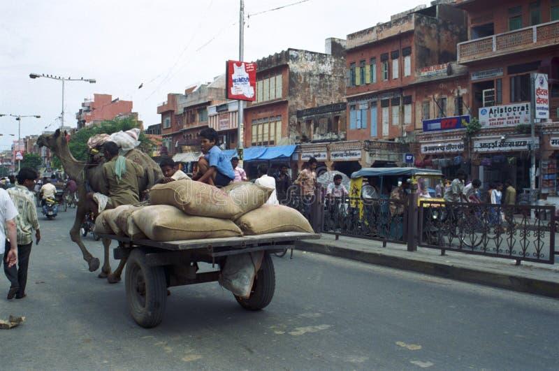 Povos nas ruas da Índia imagens de stock