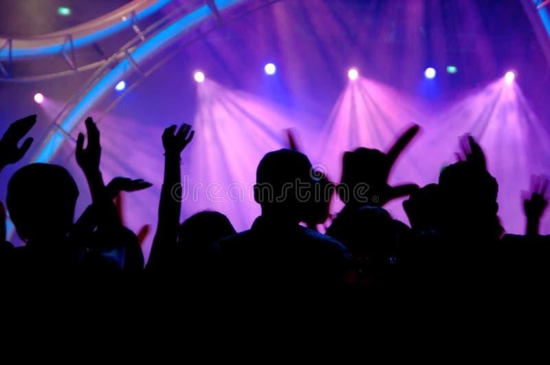 Povos no concerto fotografia de stock royalty free