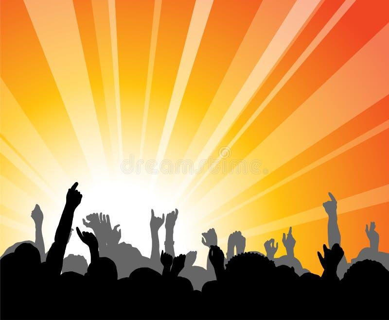 Povos no concerto ilustração royalty free