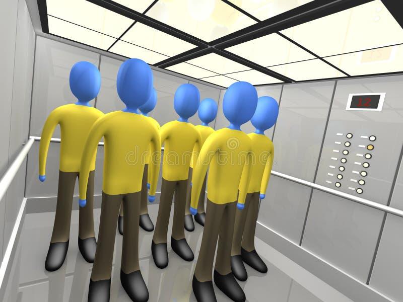 Povos no elevador ilustração do vetor