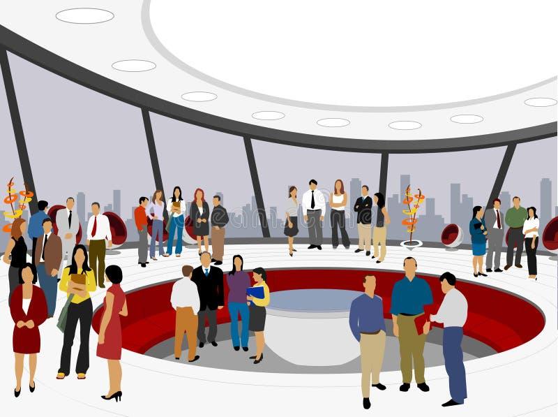 Povos no escritório branco ilustração royalty free