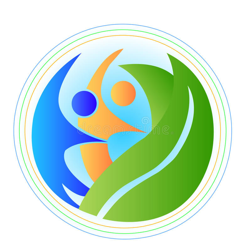 Povos no logotipo da harmonia ilustração do vetor