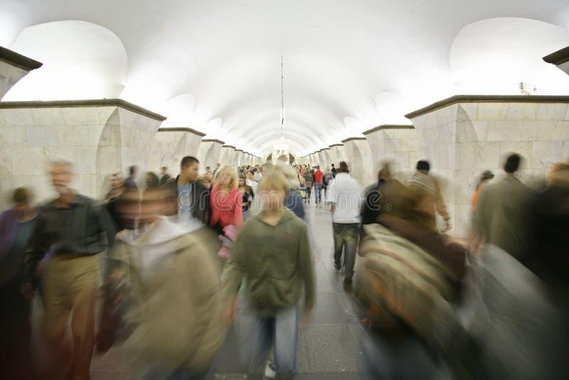 Povos no metro imagem de stock