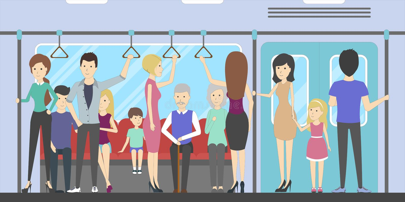Povos no metro ilustração stock