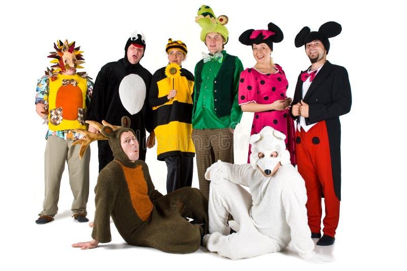 Povos nos trajes imagem de stock royalty free